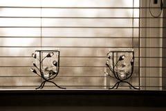 Zwei dekorative Vasen Lizenzfreie Stockbilder