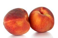 Zwei des saftigen Pfirsiches. Lizenzfreie Stockfotos