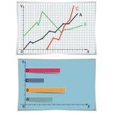 Zwei Diagramme eingestellt Lizenzfreies Stockfoto
