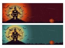 Zwei diferents Halloween-Hintergrund Stockfotos