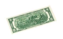 Zwei Dollarschein Lizenzfreie Stockbilder