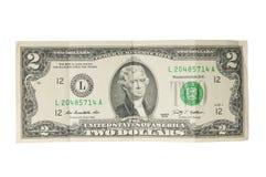 Zwei Dollarschein Lizenzfreies Stockbild
