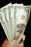 Zwei Dollarschein Lizenzfreies Stockfoto