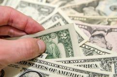 Zwei Dollarscheine Lizenzfreie Stockbilder