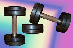 Zwei Dumbbells Stockfoto