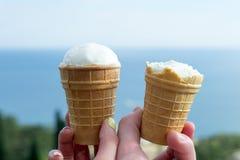 Zwei Eiscreme stockbilder