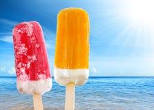 Zwei Eiscreme Lizenzfreies Stockbild