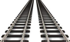 Zwei Eisenbahnspuren Stockbild