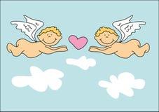 Zwei Engel lizenzfreies stockbild