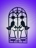 Zwei Engel. Papierausschnitt Stockbilder