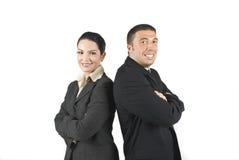 Zwei Enthusiast-Geschäftsleute Stockbilder
