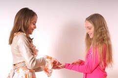 Zwei entzückende Mädchen lizenzfreie stockfotos