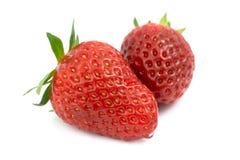 Zwei Erdbeeren Lizenzfreies Stockbild