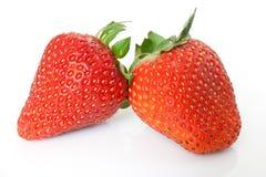 Zwei Erdbeeren stockfoto