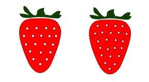 Zwei Erdbeerillustration Stockfotos