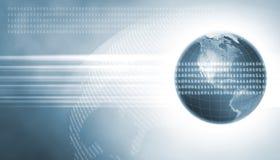 Zwei Erde mit Daten Lizenzfreie Stockfotos