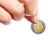 Zwei Euro Lizenzfreie Stockbilder