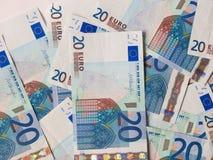 Zwei Euroanmerkungen mit Reflexion Lizenzfreie Stockfotografie
