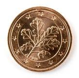 Zwei-Eurocent-Münze lokalisiert!! Stockfotografie