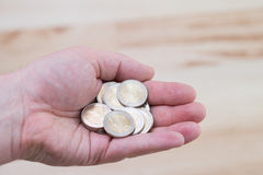 Zwei Euromünzen stockbild