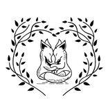 Zwei Füchse lizenzfreies stockbild