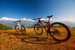 Zwei Fahrräder Stockfoto