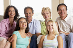 Zwei Familien zusammen stockfoto