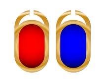Zwei farbige Kennsätze Stockfoto