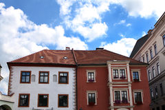 Zwei-farbiges Haus Stockfoto