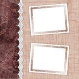 Zwei Felder für Fotos Lizenzfreie Stockbilder