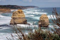 Zwei Felsen Stockfoto