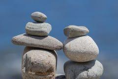 Zwei Felsen-Türme in der Harmonie stockbild