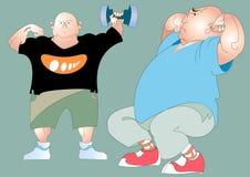 Zwei fette Männer Stockfotos