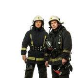 Zwei Feuerwehrmänner Stockfoto
