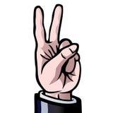 Zwei Finger oben Stockfotos