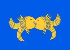 Zwei Fischliebhaber Stockbild