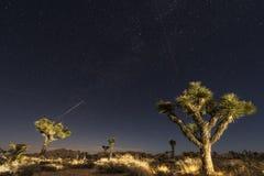 Zwei Flächen und eine Sternschnuppe Stockbild