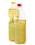 Zwei Flaschen mit Pflanzenöl Stockfoto