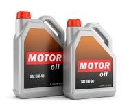 Zwei Flaschen Motorenöl lizenzfreie abbildung
