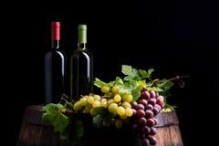 Zwei Flaschen Wein stockfotos