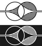 Zwei Formen, die mit einander mergen Lizenzfreie Stockfotos