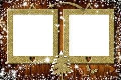 Zwei Fotorahmen Weihnachtskarten lizenzfreies stockbild