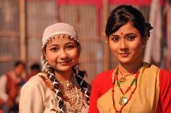 Zwei Frauen in Assam lizenzfreies stockbild