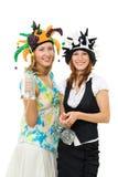 Zwei Frauen an der Party Stockbild