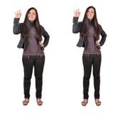 Zwei Frauen stark und dünn Lizenzfreie Stockfotografie