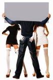 Zwei Frauen und ein Mann Lizenzfreies Stockfoto