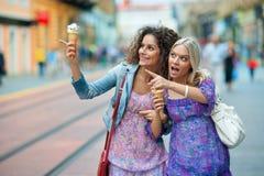 Zwei Frauenfreunde stockfoto