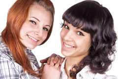 Zwei Freundinnen Lizenzfreies Stockfoto