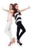 Zwei Freundinnen lokalisiert Stockbild