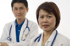Zwei freundliche Doktoren Lizenzfreie Stockfotos